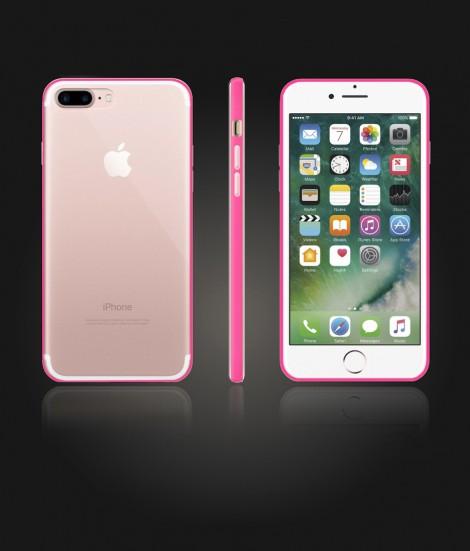 Bumper TPU Clear case iphone 7 Plus - Pink