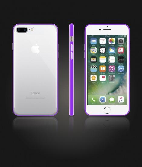 Bumper TPU Clear case iphone 7 Plus - Purple