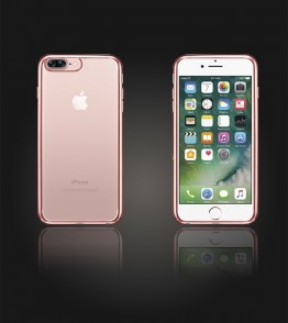Electroplated TPU Case iphone 7 Plus - Rose Gold