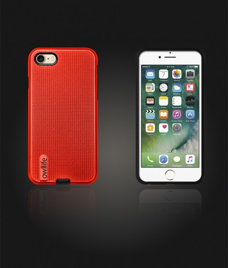 owllife Slim Protection Case iphone 7 - Red