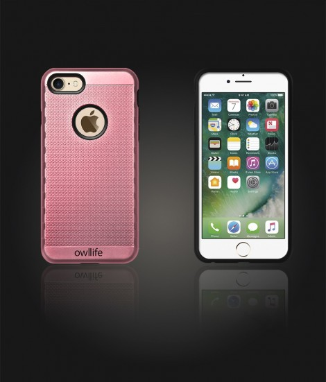 owllife Slim Protection Case iphone 7 - Rose Gold