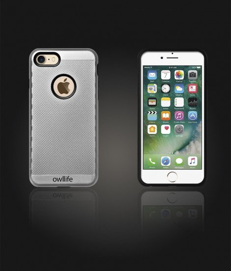 owllife Slim Protection Case iphone 7 - Silver