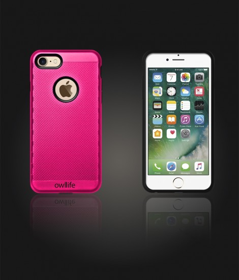 owllife Slim Protection Case iphone 7 - Hot Pink