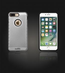 owllife Slim Protection Case iphone 7 Plus - Silver