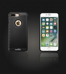 owllife Slim Protection Case iphone 7 Plus - Black