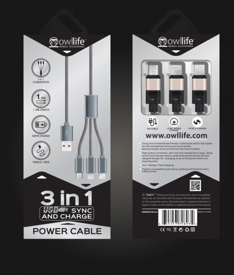 3 in 1 Sync/Charge Cable