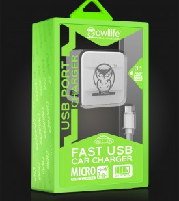 Micro USB house charging kit - White