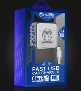 Type-C USB house charging kit - White